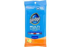 Pledge Multi Surface Wipes Fresh Citrus - 25 CT