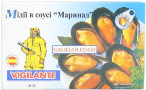 Мидии в маринадном соусе Vigilante 115г