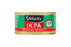 Икра лососевая зернистая Veladis ж/б 120г