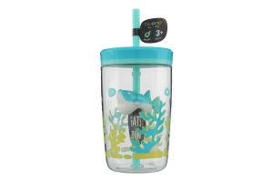 Склянка дитяча з трубочкою 0,47 л, Синього кольору, Contigo FLOATING STRAW TUMBLER06800368