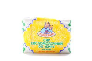 Сир Добряна кисломолочний нежирний 200г
