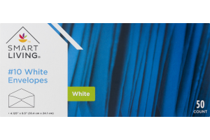 Smart Living #10 White Envelopes - 50 CT