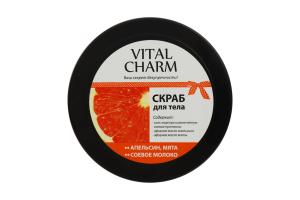 Скраб для тела Соевое молоко, Апельсин, Мята Vital Charm 250г