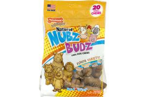 Nylabone Edibles Natural Nubz Budz Edible Dog Chews Flavor Variety - 20 CT