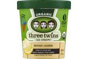 Three Twins Ice Cream Organic Lemon Cookie