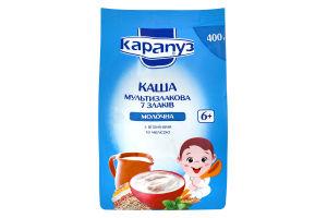 Каша для детей от 6мес Мультизлаковая 7 злаков молочная Карапуз м/у 400г