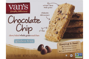 Van's Chewy Baked Whole Grain Snack Bars Chocolate Chip