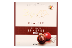 Цукерки шоколадні Сфери з молочного шоколаду Belgid'Or к/у 175г
