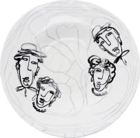 Тарілка керамічна Зустріч Wave Clay 1шт