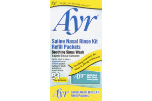 Ayr Saline Nasal Rinse Kit Refill Packets - 51 CT