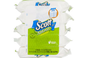 Scott Naturals Flushable Cleansing Cloths - 255 CT