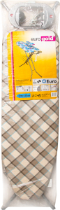 Доска гладильная Eurogold подрукавник+полка 120х38