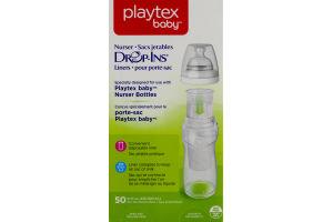 Playtex Baby Nurser Drop-Ins Liners- 50 CT