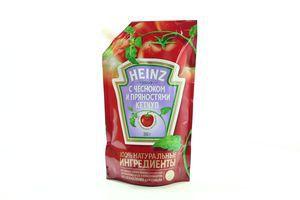 Кетчуп с чесноком и пряностями Heinz д/пак 350г
