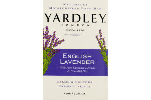 Yardley London Naturally Moisturizing Bath Bar English Lavender
