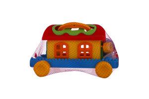 Игрушка для детей от 1года №48769 Сказочный домик на колесах Полесье 1шт