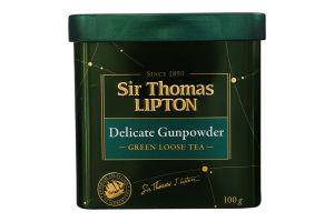 Чай зелений байховий листовий Delicate Gunpowder Sir Thomas Lipton з/б 100г