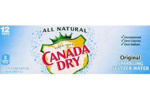 Canada Dry Sparkling Seltzer Water Original - 12 PK