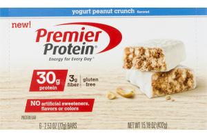 Premier Protein Bars Yogurt Peanut Crunch - 6 CT