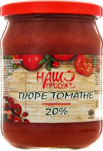 Пюре Наш продукт томатное стерилизованное 20%