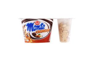 Десерт 13.3% молочний з шоколадом і лісовими горіхами+хрустка суміш Crunchy Monte Zott 125г