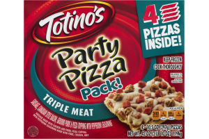 Totino's Party Pizza Pack! Triple Meat - 4 CT