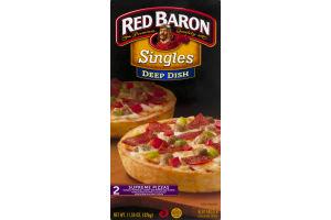 Red Baron Singles Deep Dish Supreme Pizza - 2 CT