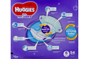 Huggies Little Movers Diapers 6 - 54 CT