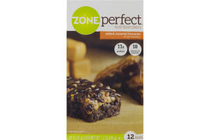 Zone Perfect Nutrition Bars Salted Caramel Brownie - 12 CT
