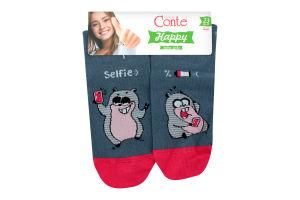 CONTE Шкарпетки жіночі Happy 17С-21СП р.23 124 джинс