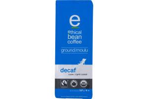 Ethical Bean Coffee Ground Arabica Coffee Decaf Dark