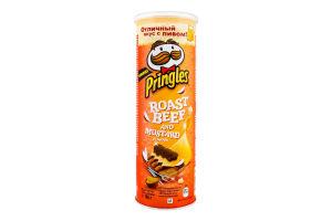 Чипсы картофельные Ростбиф и горчица Pringles тубус 165г