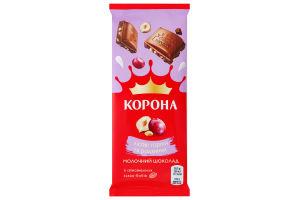 Шоколад Корона 85г молочний родзинки горiх