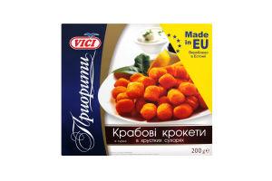 Крокети крабові із сурімі в хрустких сухарях Vici к/у 200г