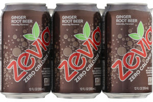 Zevia Zero Calorie Soda Ginger Root Beer - 6 PK