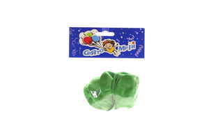 Кульки надувні зеленого кольору Свято Мрій 6шт