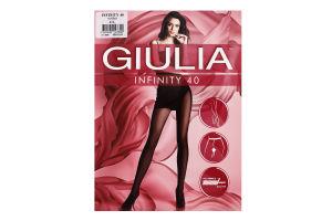 Колготки жіночі Giulia Infinity 40den 4-L nero