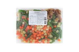 Суміш овочева швидкозаморожена Овочі з шампіньйонами Агродар-Україна Плюс м/у 400г
