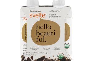 CalNaturale Svelte Organic Protein Shake Chocolate - 4 PK