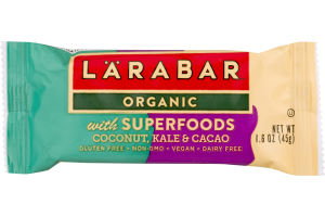 Larabar Organic with Superfoods Coconut, Kale & Cacao
