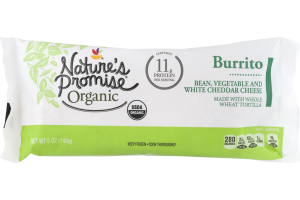 Nature's Promise Organic Burrito Bean, Vegetable and White Cheddar Cheese