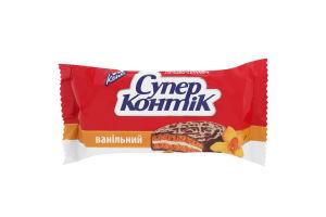 Печенье-сэндвич молочное ванильное Супер-Контик Кonti м/у 100г