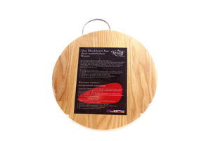 Доска Krauff кухонная дер круглая с мет ручкой d-23см арт.29-161-001