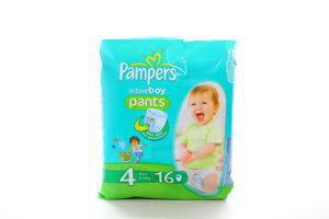 Подгузники Active Boy Pants maxi Pampers 4 9-14кг 16шт