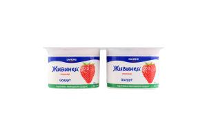 Йогурт 1.5% Полуниця Живинка ст 4х115г