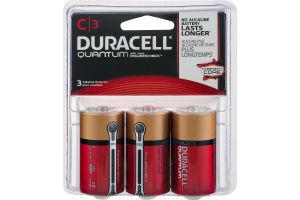 Duracell Quantum C Alkaline Batteries - 3 CT