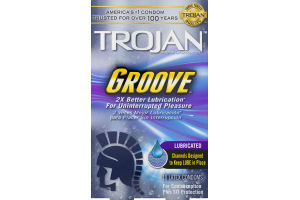 Trojan Premium Latex Condoms Groove - 10 CT