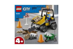 Конструктор для детей от 4лет №60284 Roadwork Truck City Lego 1шт
