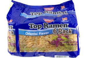 Nissin Top Ramen Oriental Flavor Ramen Noodle Soup - 6 PK