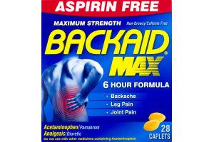 Backaid Max Maximum Strength Caplets - 28 CT